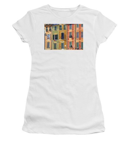 Windows Of Portofino Women's T-Shirt (Athletic Fit)