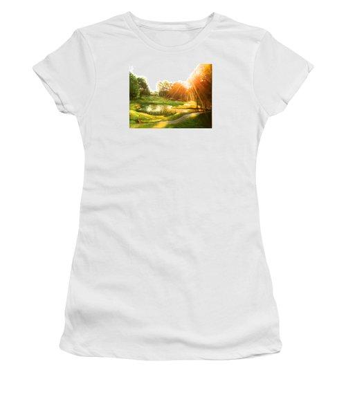 Windstone 13th Green Women's T-Shirt (Junior Cut) by Janet McGrath