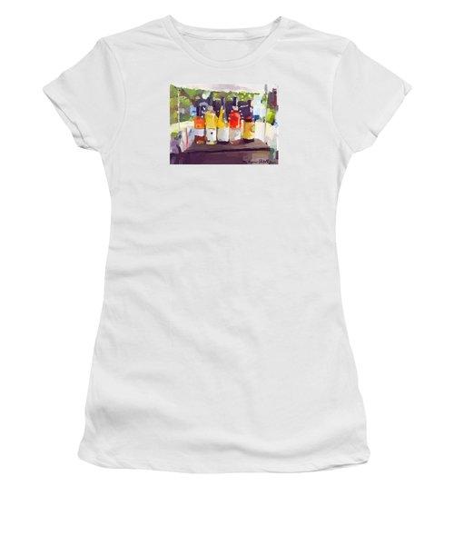 Wine Tasting Tent At Rockport Farmers Market Women's T-Shirt (Junior Cut)