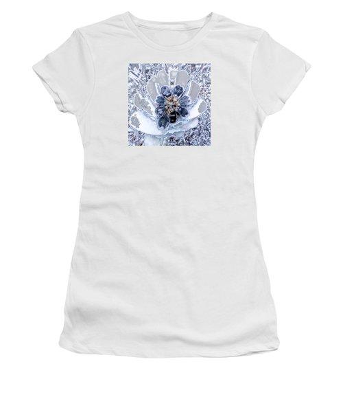 Winter Flower 2 Women's T-Shirt (Junior Cut) by Ron Bissett
