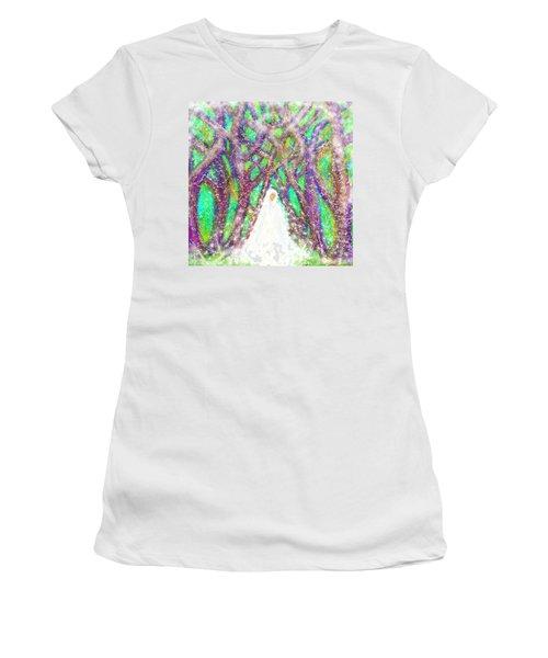 Winter Women's T-Shirt (Junior Cut) by Hidden Mountain