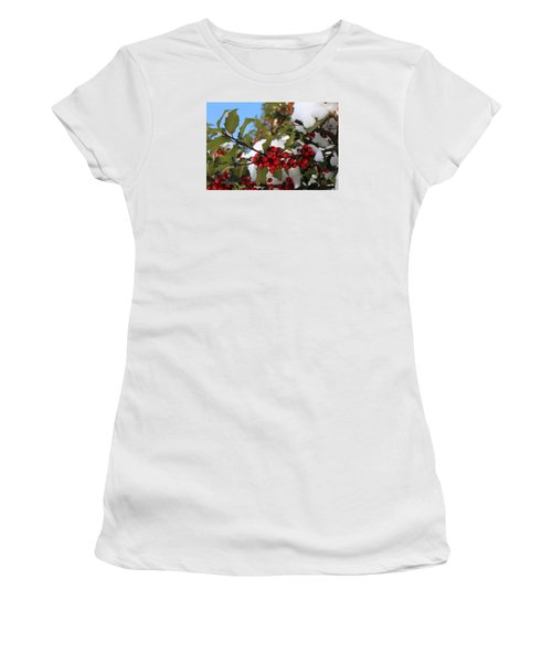 Winter Holly Women's T-Shirt (Athletic Fit)