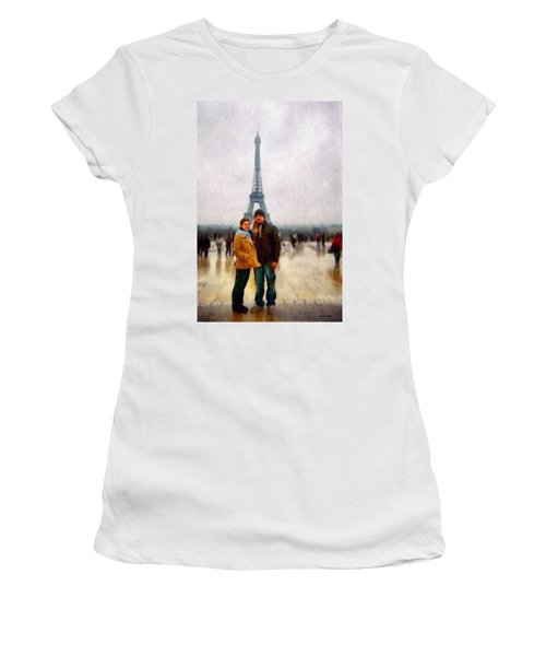 Winter Honeymoon In Paris Women's T-Shirt