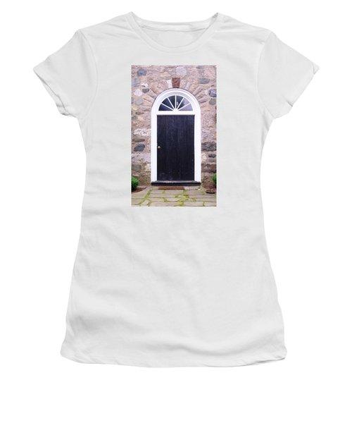 Winter House Door Women's T-Shirt (Athletic Fit)