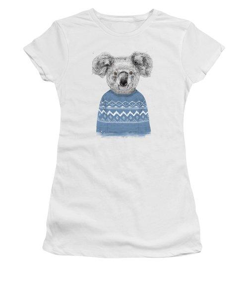 Winter Koala Women's T-Shirt (Athletic Fit)