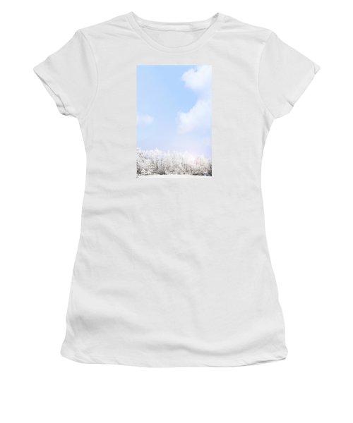 Winter Landscape Women's T-Shirt (Junior Cut) by Stephanie Frey