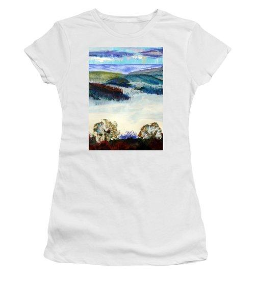 Winter Misty Morning In Devon Women's T-Shirt