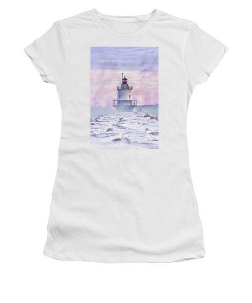 Winter Morning At Spring Point Ledge Women's T-Shirt