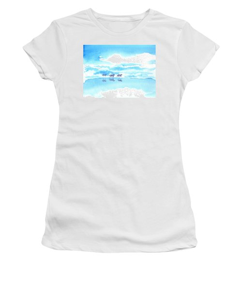 Winter Reflection Women's T-Shirt (Athletic Fit)