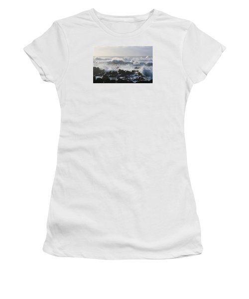 Women's T-Shirt (Junior Cut) featuring the photograph Winter Sea by Jeanette French