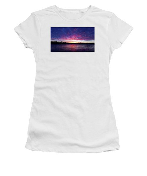 Winter Sunrise On The Wisconsin River Women's T-Shirt (Athletic Fit)
