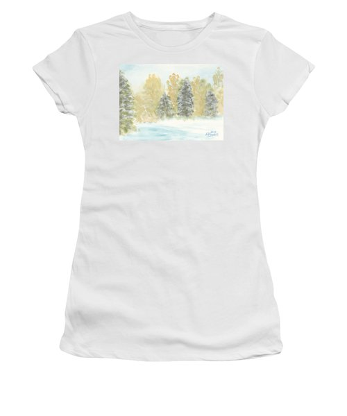 Winter Trees Women's T-Shirt (Athletic Fit)