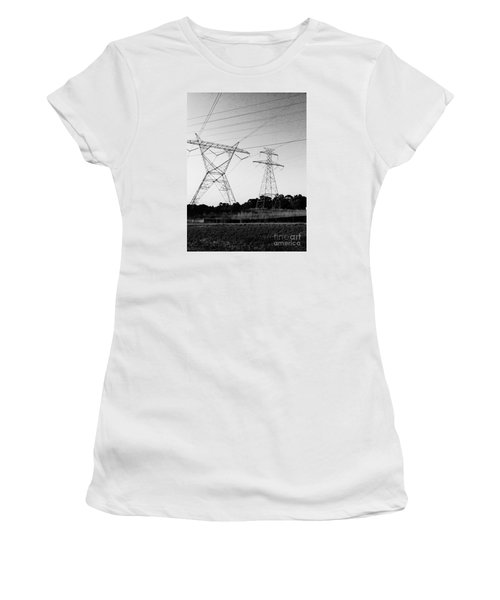 Wire Line Women's T-Shirt (Athletic Fit)