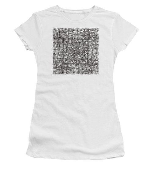 Women's T-Shirt (Junior Cut) featuring the digital art Wired Abstraction by Eleonora Perlic