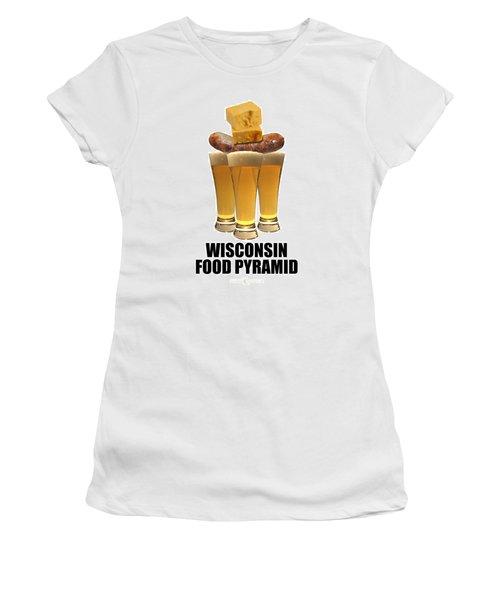 Wisconsin Food Pyramid Women's T-Shirt