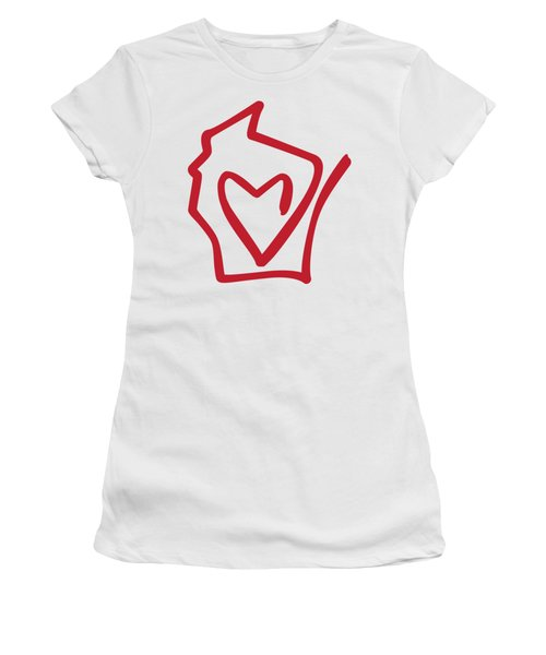 Wisconsin Love Women's T-Shirt (Athletic Fit)