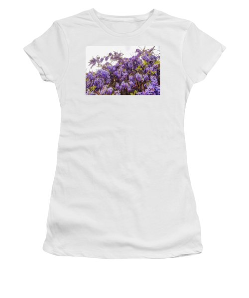 Wisteria Spring Bloom Women's T-Shirt (Athletic Fit)