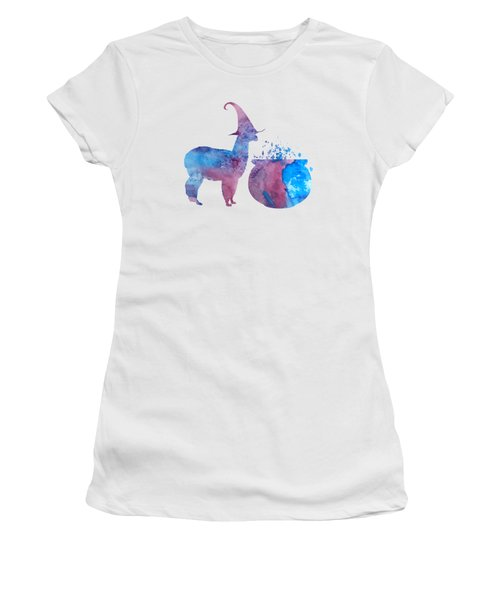 Witch Llama Women's T-Shirt (Athletic Fit)