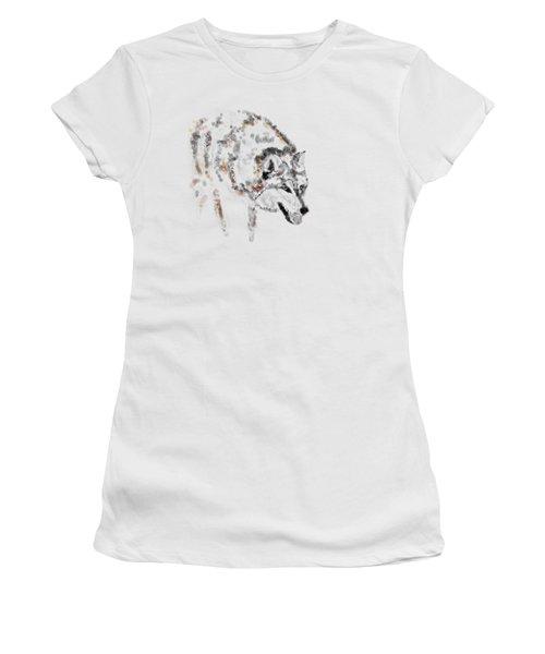 Wolf Women's T-Shirt (Junior Cut) by Barbara Moignard