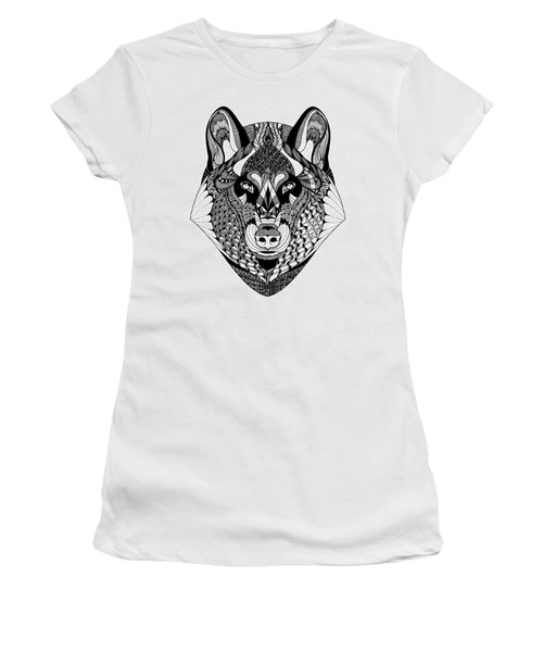 Wolf Women's T-Shirt (Junior Cut) by Jan Steinle
