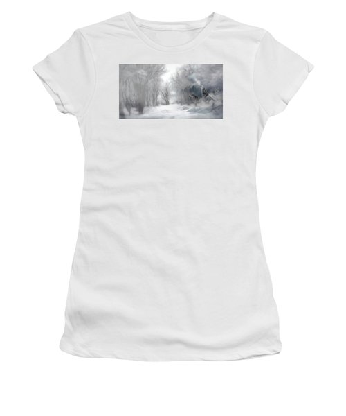 Wolves In The Mist Women's T-Shirt