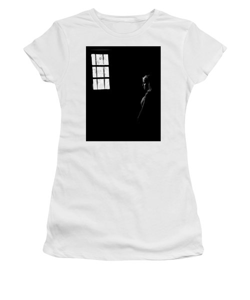 Woman In The Dark Room Women's T-Shirt (Junior Cut) by Ralph Vazquez