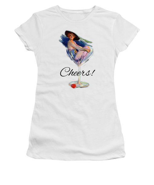 Woman In Wine Glass Women's T-Shirt