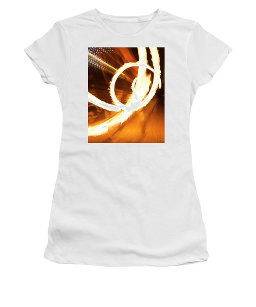 Woman On Fire Women's T-Shirt (Athletic Fit)