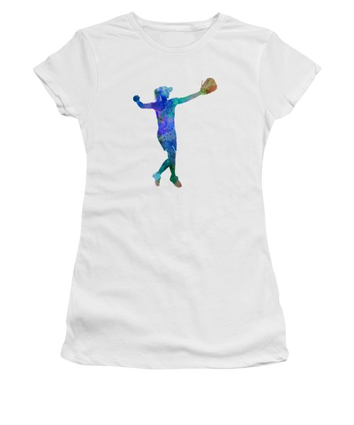 Woman Playing Softball 02 Women's T-Shirt (Athletic Fit)