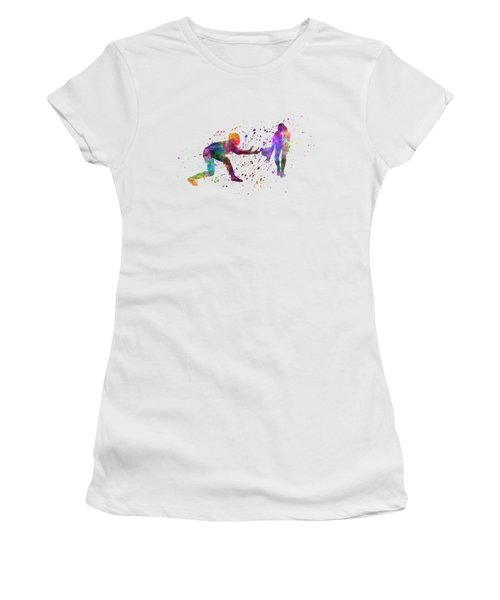 Woman Rugby 01 In Watercolor Women's T-Shirt