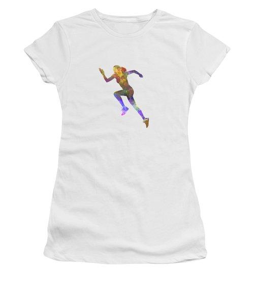 Woman Runner Running Jogger Jogging Silhouette 03 Women's T-Shirt