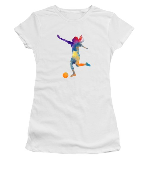 Woman Soccer Player 07 In Watercolor Women's T-Shirt (Athletic Fit)