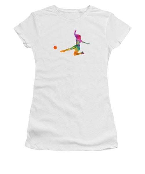 Woman Soccer Player 11 In Watercolor Women's T-Shirt