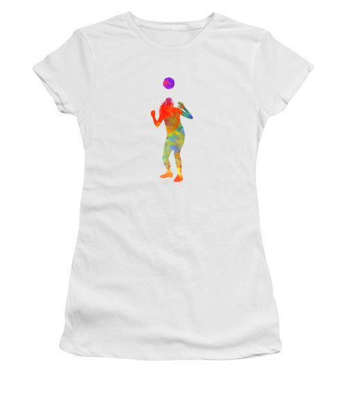 Woman Soccer Player 13 In Watercolor Women's T-Shirt (Athletic Fit)