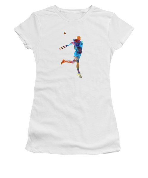 Woman Tennis Player 03 In Watercolor Women's T-Shirt (Athletic Fit)