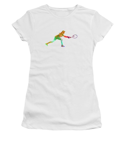 Woman Tennis Player Sadness 02 In Watercolor Women's T-Shirt (Athletic Fit)