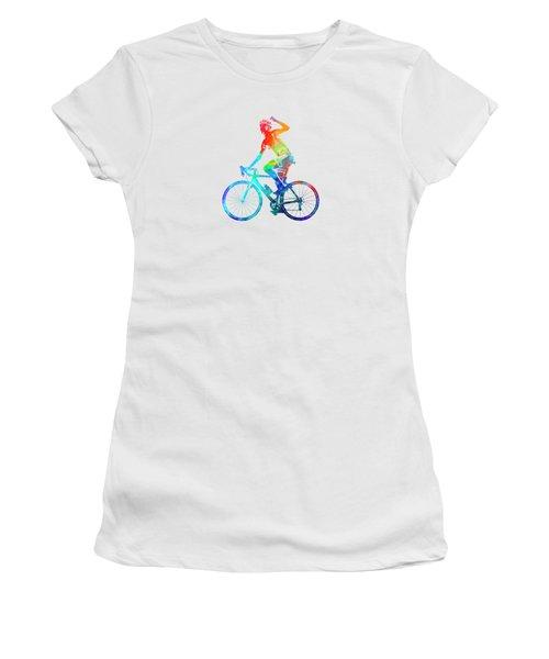 Woman Triathlon Cycling 03 Women's T-Shirt