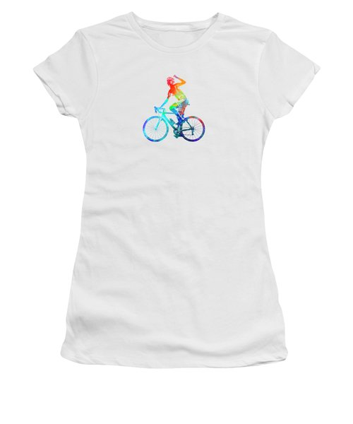 Woman Triathlon Cycling 03 Women's T-Shirt (Athletic Fit)