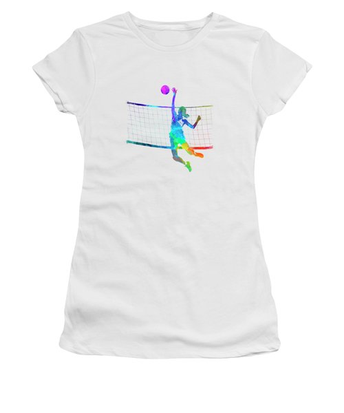 Woman Volleyball Player In Watercolor Women's T-Shirt
