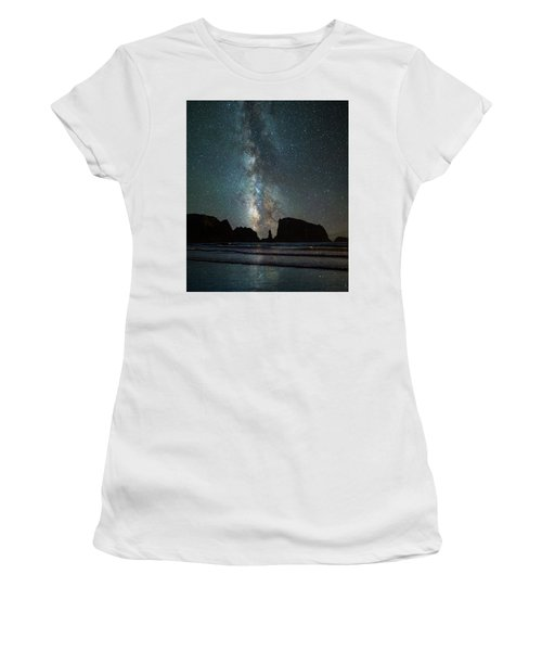 Women's T-Shirt (Junior Cut) featuring the photograph Wonders Of The Night by Darren White