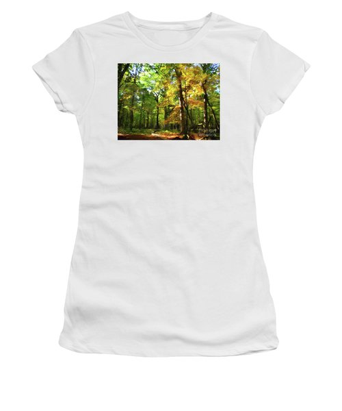 Wood Plank Trail Women's T-Shirt (Athletic Fit)