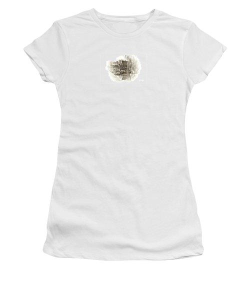 Women's T-Shirt (Junior Cut) featuring the drawing Wooden Bridge by Maciek Froncisz