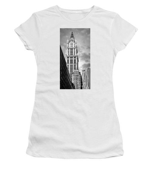 Women's T-Shirt featuring the photograph Woolworth Building by Juergen Held
