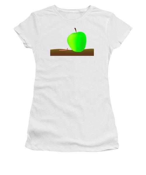 Worn And Apple Women's T-Shirt