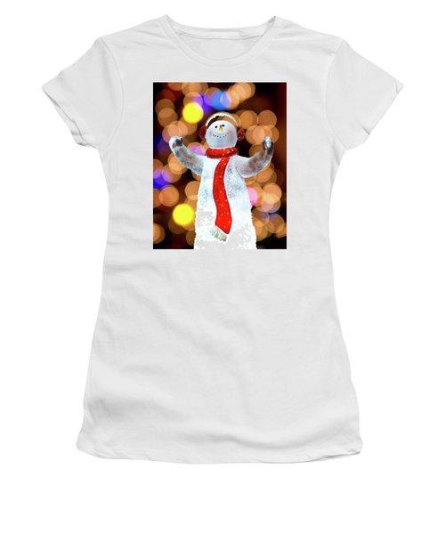 Worshiping Snowman Women's T-Shirt