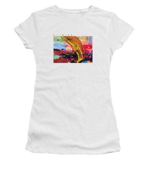 Wyoming Map Art - Painted Map Of Wyoming Women's T-Shirt