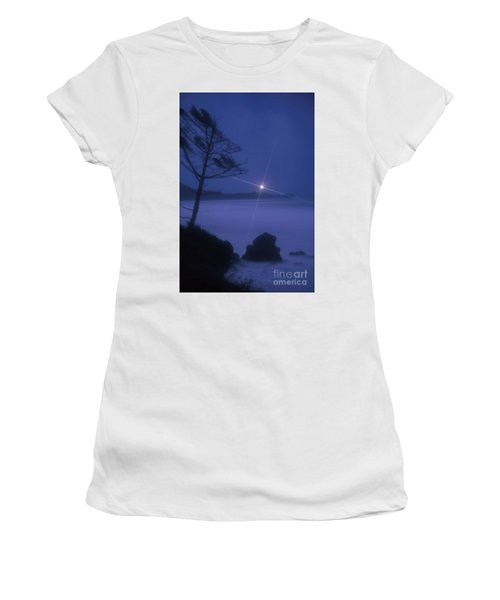 Yaquina Head At Night Women's T-Shirt (Athletic Fit)