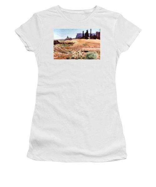 Yei Bi Chei And Totem Poles Women's T-Shirt (Junior Cut) by Donald Maier