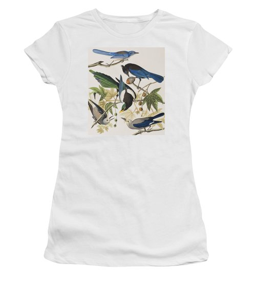Yellow-billed Magpie Stellers Jay Ultramarine Jay Clark's Crow Women's T-Shirt (Athletic Fit)