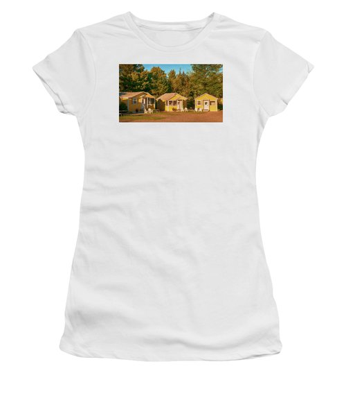 Yellow Cabins Women's T-Shirt (Athletic Fit)